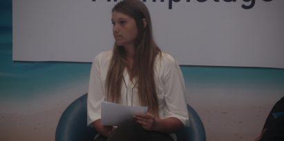 La fundadora de Ocean Legacy, Chloé Dubois, está preocupada por el vacío que tiene Panamá sobre basura plástica. Foto Víctor Arosemena