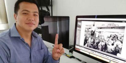 El fotógrafo Carlos Yap espera lograr una fotografía con Lucas y el papa Francisco.  Miriam Lasso