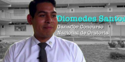 Diomedes Santos, ganador del Concurso Nacional de Oratorias Panamá. Foto/JC Lamboglia