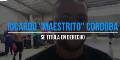 Maestrito Córdoba un paso al éxito. Foto/Jaime Chávez