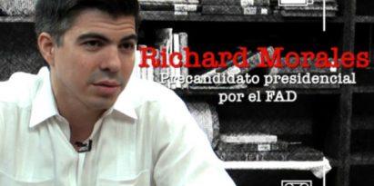 Richard Morales, precandidato presidencial del FAD. Foto/JCLamboglia