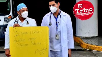 Médicos reclaman un proceso justo de vacunación contra la covid-19. Foto Víctor Arosemena