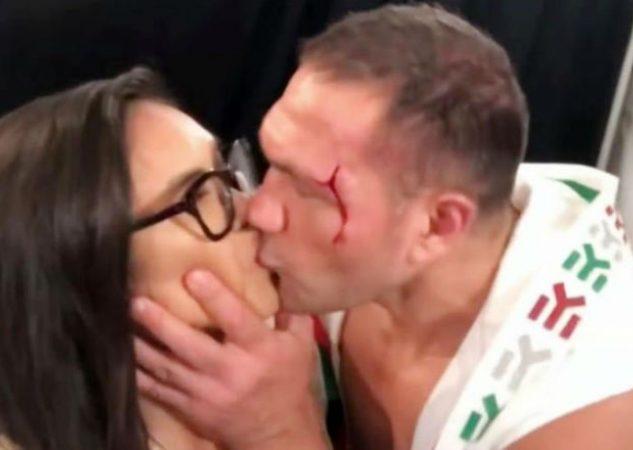 Kubrat Pulev besa a Jenny Sushe Foto Captura