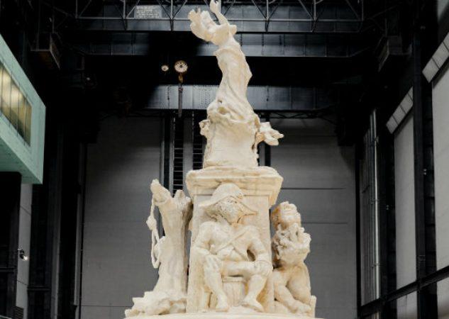 """""""Fons Americanus"""", un nuevo monumento de Kara Walker, se exhibe en Londres hasta abril. Foto/ Charlotte Hadden para The New York Times."""