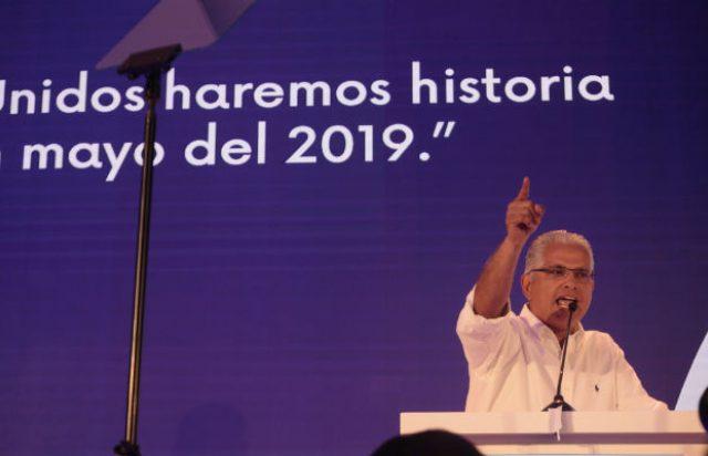 Candidato a la presidencia, José Isabel Blandón.