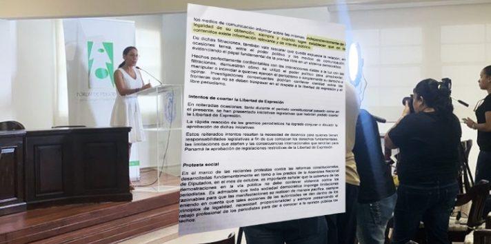 Informe del Fórum de Periodistas valida publicaciones sobre los denominados Varelaleaks.  Ilustración Panamá América