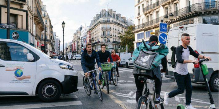 París hoy es la octava ciudad más amigable con las bicicletas, en comparación con 17ava en el 2015. Foto/ Andrea Mantovani para The New York Times.