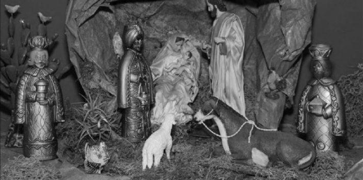 Nacimiento del escultor mexicano Luis Villanueva, realizado con figuras de México y El Salvador, a excepción de los Reyes Magos que son de Japón. Foto: EFE