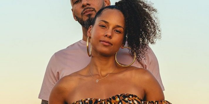 Alicia Keys y su esposo Swizz Beatz. Instagram
