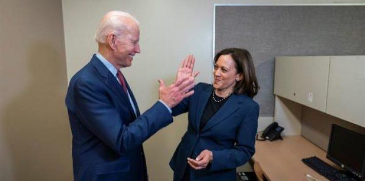 El precandidato demócrata a la Presidencia de Estados Unidos, Joseph Biden anunció la escogencia de Kamala Harris, FOTO/EFE