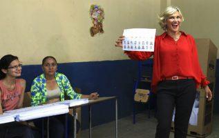 Cynthia Viteri,candidata socialcristiana a la Presidencia de Ecuador. FOTO/EFE