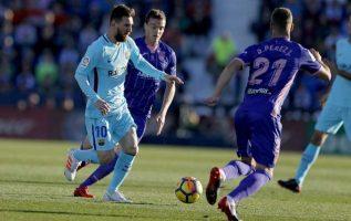 Lionel Messi lleva tres goles en la Liga de Campeones. Foto AP