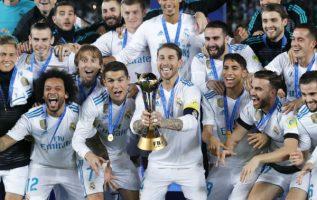 Sergio Ramos levanta el trofeo de campeón de Real Madrid: Foto:AP