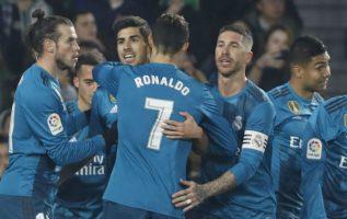 Jugadores de Real Madrid festejan. Foto:AP