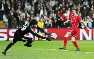 Robert Lewandowki con la casaca del Bayern Foto EFE