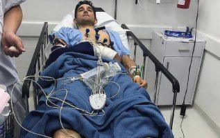 Óscar Sevilla además fue agredido. Foto EFE