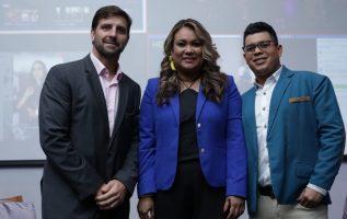 Federico Brisky, gerente general de Grupo Epasa, Shanyda Peñalba, directora de día a día, y José Huertas. /Foto Aurelio Herrera