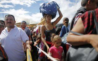 Venezolanos entrando por tierra a Colombia. Foto: Archivo.