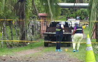 Dos sujetos le dispararon al agricultor chiricano. Foto: José Vásquez