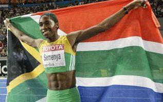 La atleta sudafricana Mokgadi Caster Semenya. Foto:AP