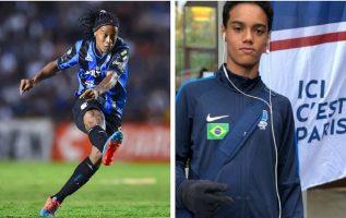 El hijo de Ronaldinho encantó a los cazatalentos.