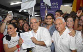 José Isabel Blandón se postuló el pasado domingo 19 de agosto en la sede de la Fundación Arias Madrid.