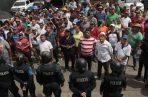 Unidades de Control de Multitudes (UCM) fueron enviadas a la protesta en el Mercado de Abastos. Víctor Arosemena
