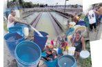 Más de 65 mil personas se mantienen sin agua tras la afectación de la potabilizadora de Laguna Alta en Arraiján. Foto: Panamá América.
