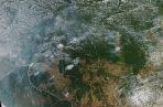 El Ministerio del Medio Ambiente ha atribuido esa situación a una vasta sequía en las regiones norte y centro oeste del país, pero las organizaciones defensoras de la Amazonía tienen otra opinión. FOTO/EFE
