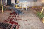En el sitio del incidente quedó un charco de sangre. Foto: Eric A. Montenegro.