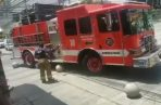 El incidente del camión del Cuerpo de Bomberos de Panamá con los bolardos ubicados en Calle Uruguay ocurrió el lunes 18 de marzo.