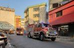 Pánico en Calidonia tras incendio en un almacén de calzados. Foto: Bomberos de Panamá.