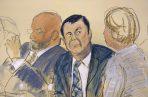 Joaquín El Chapo se enfrenta a la petición de cadena perpetua de la Fiscalía por transportar a EE.UU desde México toneladas de drogas por dos décadas. FOTO/AP