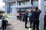 Asesinan a seguridad de un Banco. Foto/Cortesía