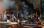 El inmueble quedó prácticamente destruido por efecto de la explosión, que fue seguida de un incendio.
