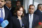 Kenia Porcell acudió interpuso una querella penal contra la diputada Zulay Rodríguez por el presunto delito contra el honor. Foto: Panamá América.