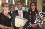 Kevin Moncada (centro), Jessica Canto (dcha.) y Shirley Castañeda interpusieron una denuncia penal en contra de la procuradora Kenia Porcell.