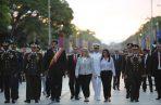 Nicolás Maduro (3i), durante un acto con militares en conmemoración del 198º Aniversario de la Batalla de Carabobo y Día del Ejército, en Carabobo (Venezuela). FOTO/EFE