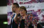 Michelle Bachelet, al arribar a Venezuela. Foto: AP.