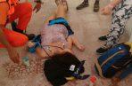 Peregrina francesa sufre ataque epiléptico en la provincia de Los Santos. Foto: Sinaproc.