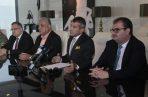 Defensa de Ricardo Martinelli ofreció una conferencia de prensa para dar detalles de cómo actuarán ahora que el caso está en el SPA. Víctor Arosemena