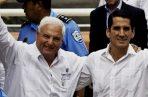 El expresidente Ricardo Martinelli Berrocal y Rómulo Roux. Foto/Archivos