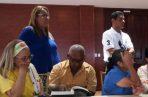 Familiares de los desaparecidos en la reunión del pasado viernes. Cortesía