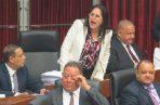 Zulay Rodríguez presenta 25 mil 743 firmas a favor de la reforma migratoria. Foto: Panamá América.