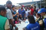 Los migrantes del albergue en la comunidad La Peñita fueron afiliados y vacunados. Foto de Belys Toribio