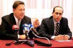 Juan Carlos Varela junto al exemabajdor de Panamá en Italia, Fernando Berguido.