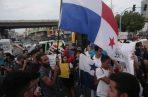 Manifestación en la Plaza 5 de Mayo.