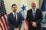 Rolando Mirones se reunió en Washington con Chad Wolf, secretario interino de Seguridad Nacional de Estados Unidos  para conversar sobre temas de cooperación e intercambio de información en materia de seguridad fronteriza, tráfico de personas y ciberdelitos.