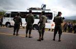 Migrantes hondureños son detenidos por autoridades de ese país en Ocotepeque (Honduras). FOTO/EFE