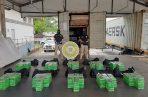 Decomisan 350 paquetes de supuesta sustancia ilícita en un puerto del Pacífico panameño